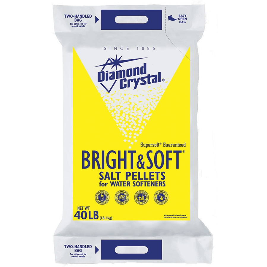Diamond Crystal 40 lbs Water Softening Salt Pellets