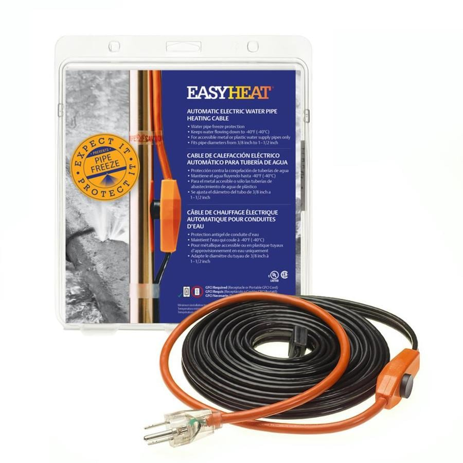 Shop Easyheat Ahb 6 Ft 42 Watt Pipe Heat Cable At Wire In Your Thermostat Bundle Otherwise You Will Have To Run A