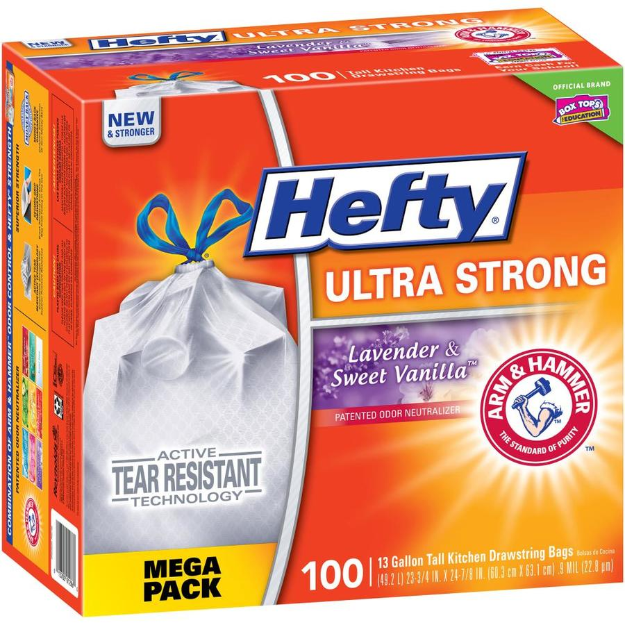 Hefty 100-Count 13-Gallon Vanilla Indoor Kitchen Trash Bags