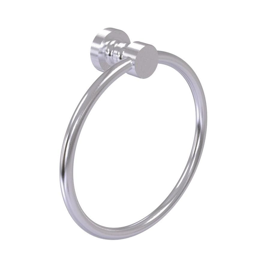 Satin Chrome Allied Brass FT-16-SCH Foxtrot Collection Towel Ring