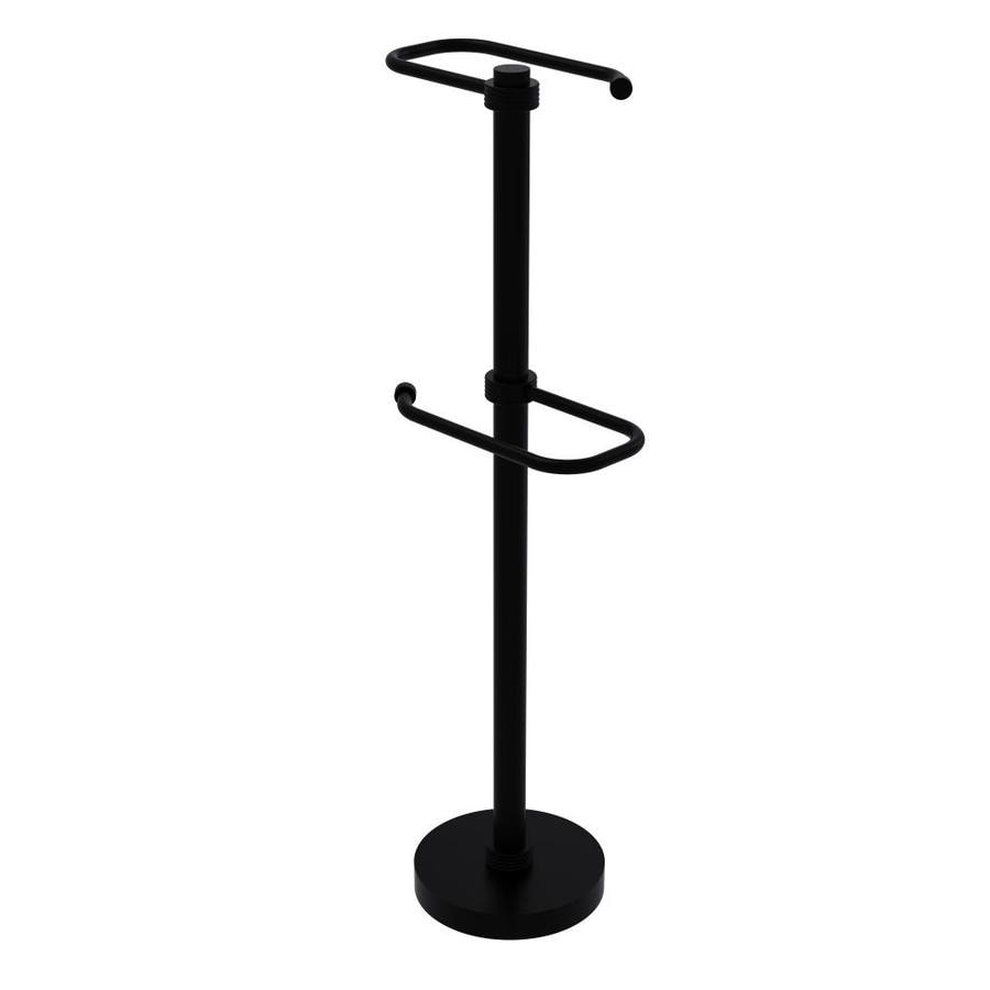 Allied Br Free Standing Two Roll Toilet Tissue Stand In Matte Black