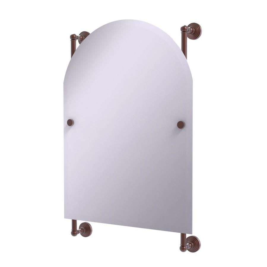 Allied Brass Waverly Place 21 In Antique Copper Arch Frameless Bathroom Mirror In The Bathroom Mirrors Department At Lowes Com