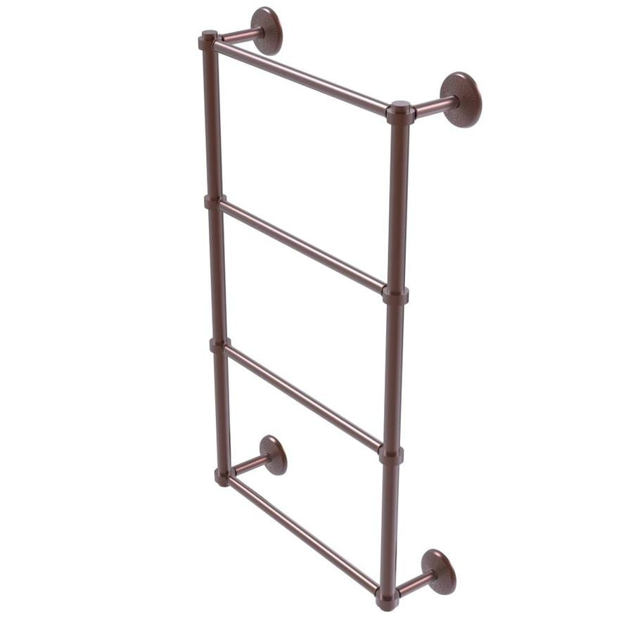 Allied Brass 931t 36 Gym Mercury Collection 36 Inch Towel Bar With Twist Accent Matte Gray Towel Bars
