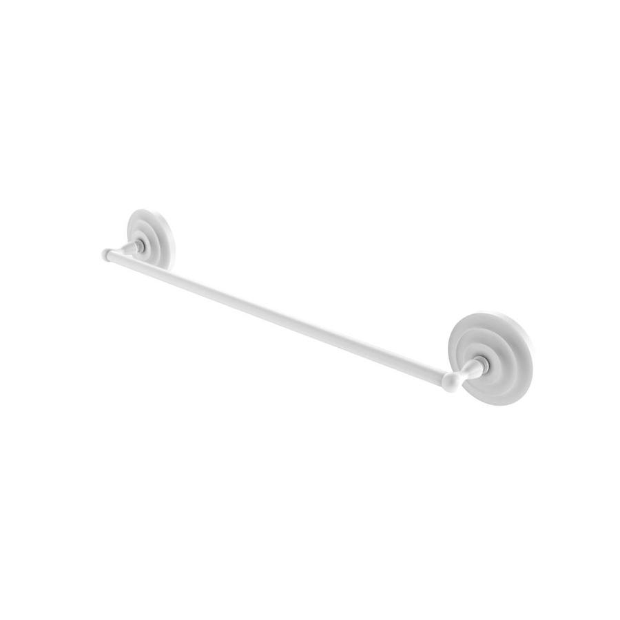 Allied Brass QN-72//24-WHM Que New Collection 24 Inch Double Towel Bar Matte White