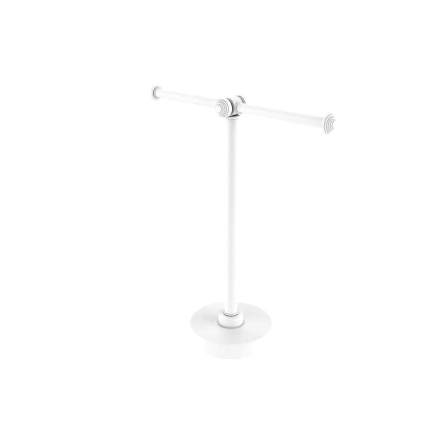 Allied Brass Southbeach Collection Vanity Top 2 Arm Guest Towel Holder In Matte White In The Towel Racks Department At Lowes Com