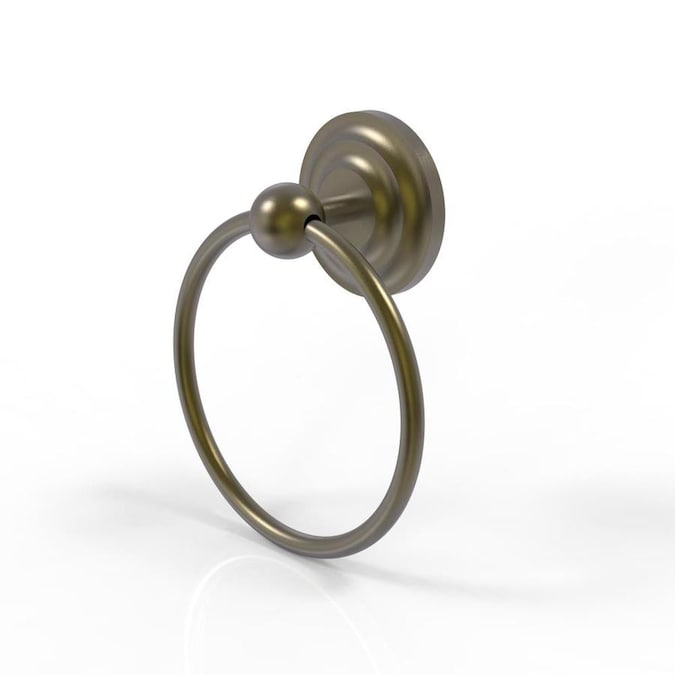Allied Brass Que New Antique Brass Wall Mount Towel Ring In The Towel Rings Department At Lowes Com