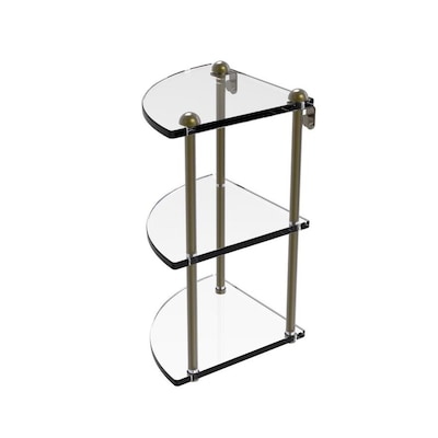Allied Brass Antique Brass 3 Tier Brass Wall Mount Bathroom Shelf In The Bathroom Shelves Department At Lowes Com