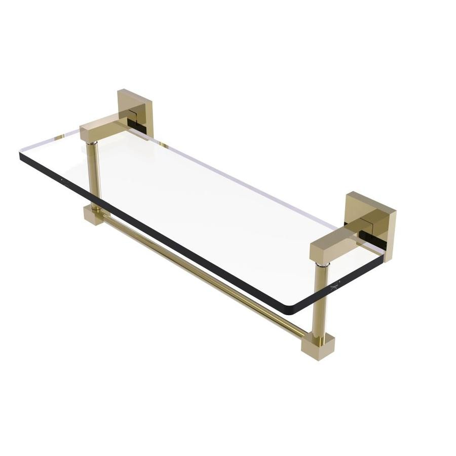 Allied Brass FR-1//22G-PNI Fresno Collection 22 Inch Glass Shelf with Vanity Rail Polished Nickel