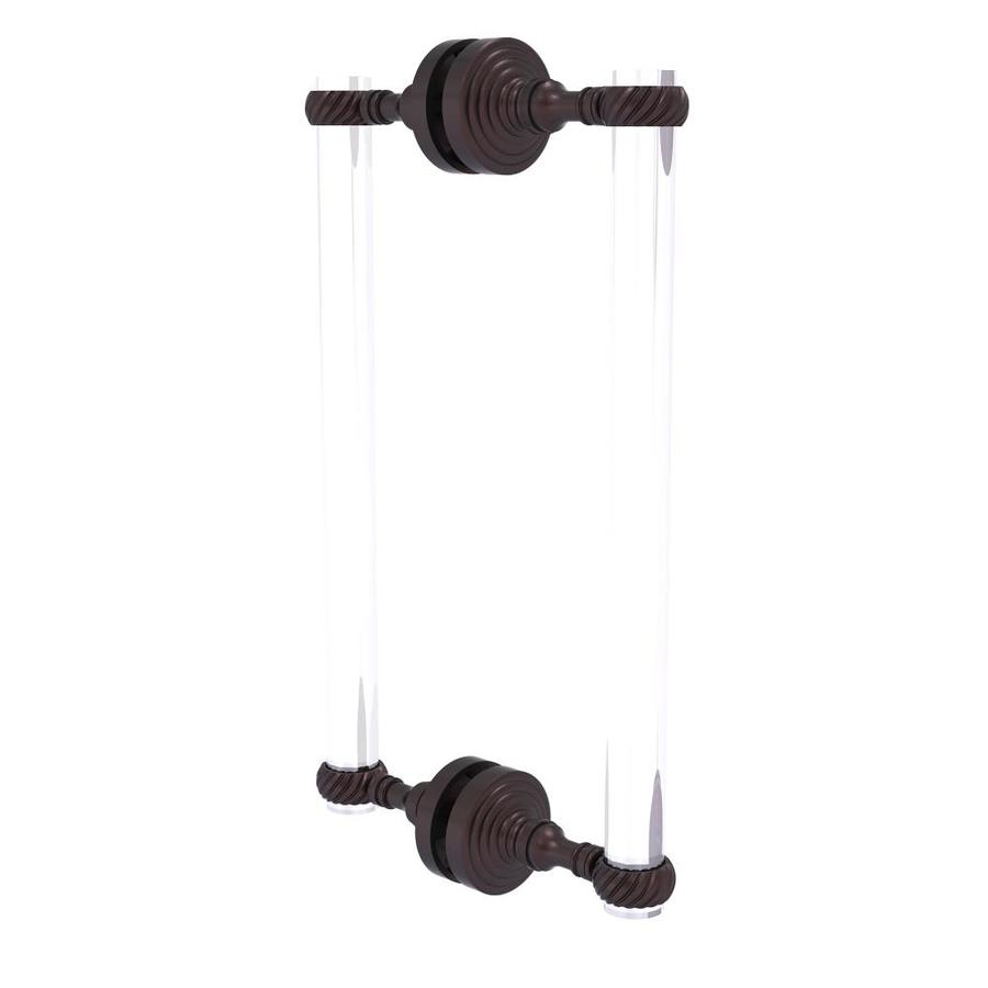 Allied Brass CV-407G-12SM-CA Clearview Collection 12 Inch Single Side Shower Door Pull with Groovy Accents Antique Copper