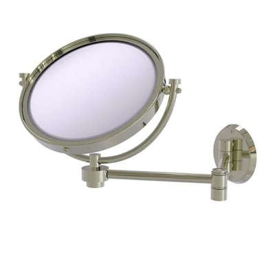 Allied Brass 8 In X 10 In Polished Nickel Double Sided Magnifying Wall Mounted Vanity Mirror In The Makeup Mirrors Department At Lowes Com