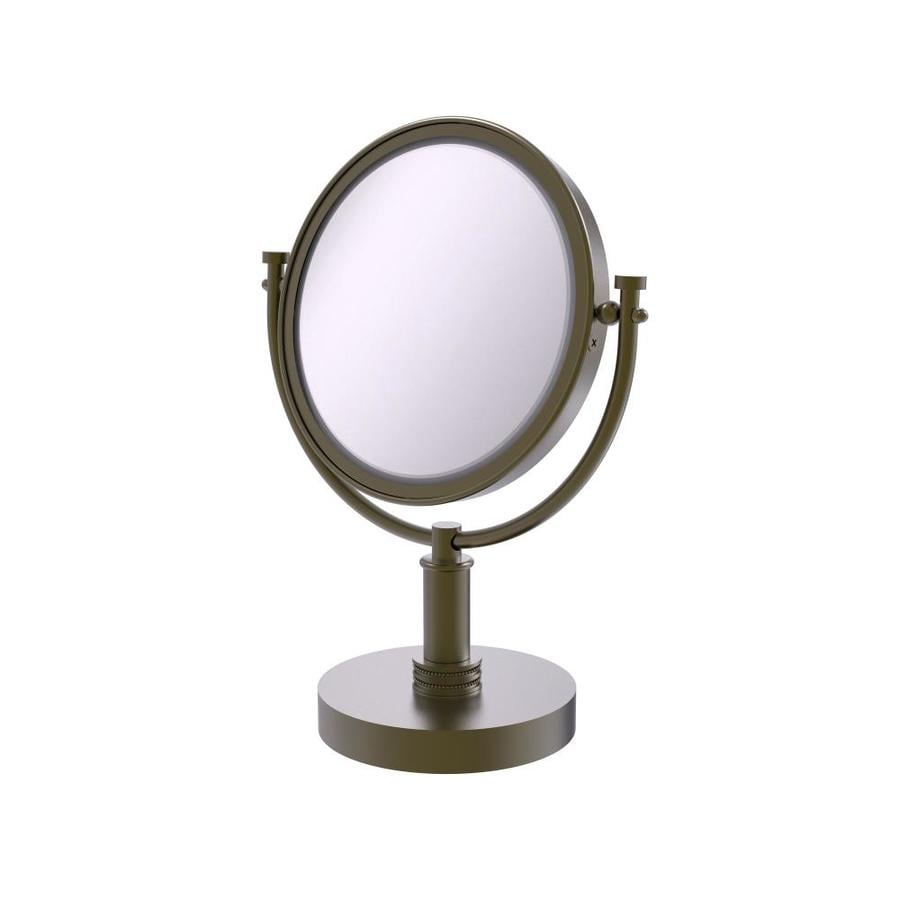 Allied Brass TR-4//3X-ABR Table Mirror with 3X Magnification Antique Brass