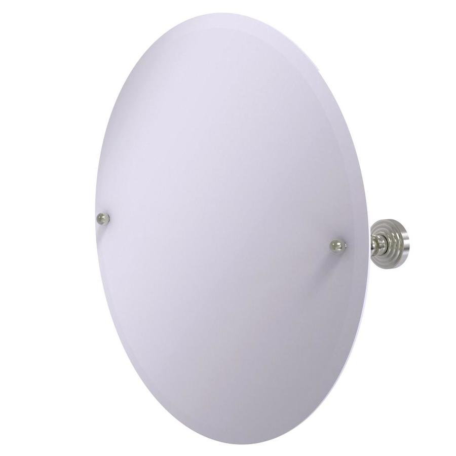Allied Brass 29-in H x 21-in W Retro-Dot Oval Frameless Bath Mirror with Beveled Edges