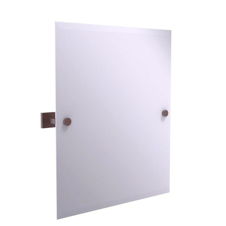 Allied Brass Montero 3 7 In Antique Copper Rectangular Frameless Bathroom Mirror In The Bathroom Mirrors Department At Lowes Com