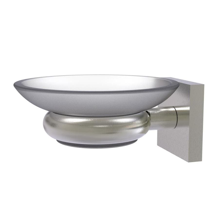 Soap Dish Brushed Nickel Wall Mounted Holder Home Bathroom Traditional Decor