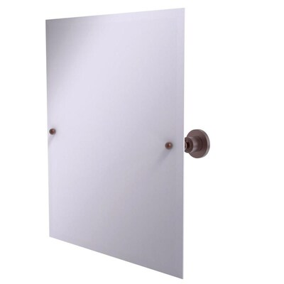 Allied Brass Astor Place 21 In Antique Copper Rectangular Frameless Bathroom Mirror In The Bathroom Mirrors Department At Lowes Com
