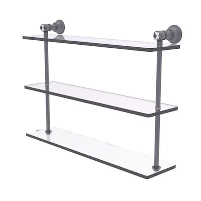 Matte Gray 3 Tier Bathroom Shelf