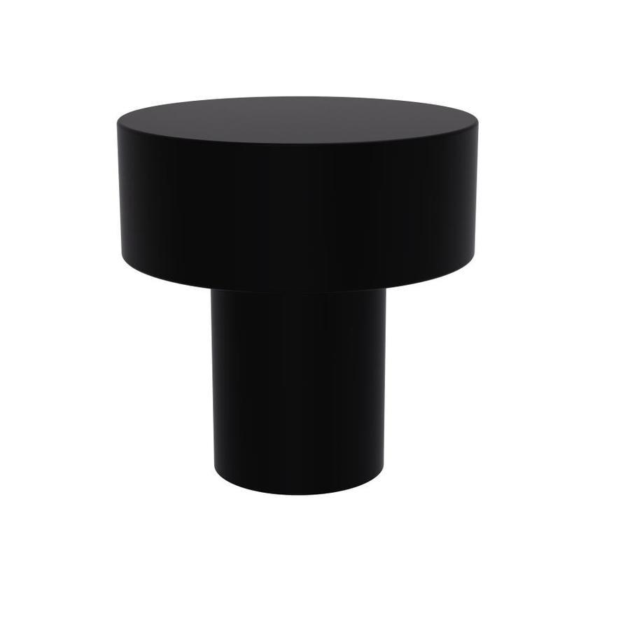 Allied Brass Matte Black Round Cabinet Knob At Lowes Com