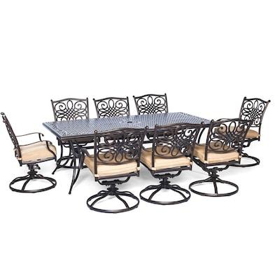 Fine Hanover Outdoor Furniture Traditions 9 Piece Bronze Metal Cjindustries Chair Design For Home Cjindustriesco