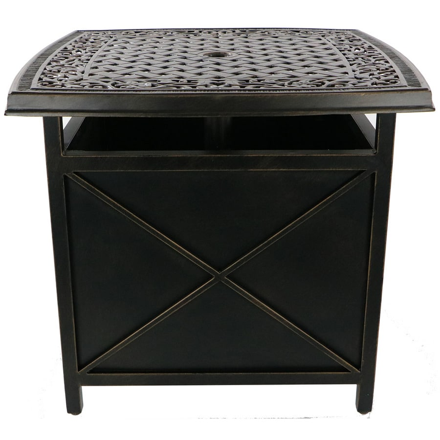 Patio Umbrella Stand Table: Shop Hanover Outdoor Furniture Traditions Cast-Top Side