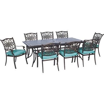 Pleasant Hanover Outdoor Furniture Traditions 9 Piece Bronze Metal Cjindustries Chair Design For Home Cjindustriesco