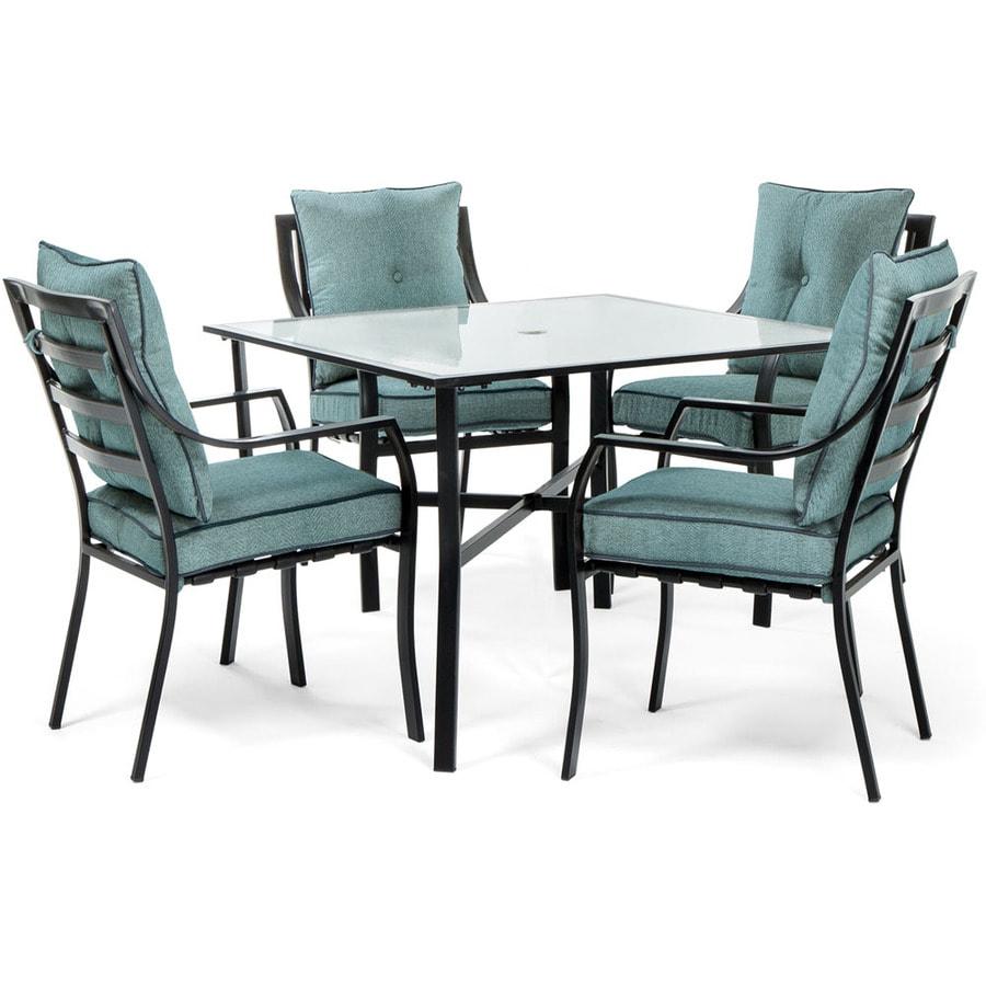 Outdoor Patio Furniture Aluminum Frame: Hanover Outdoor Furniture Lavallette 5-Piece Black