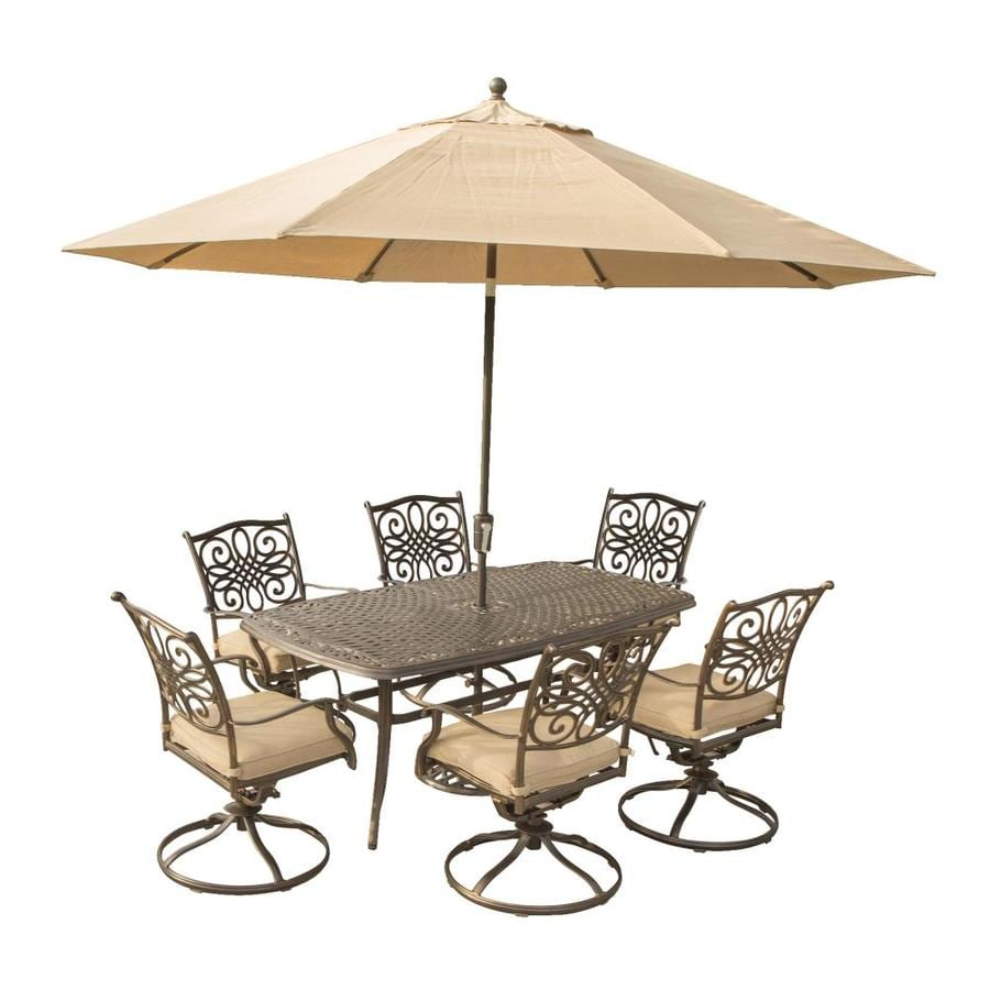 shop hanover outdoor furniture traditions 7 pc outdoor dining set
