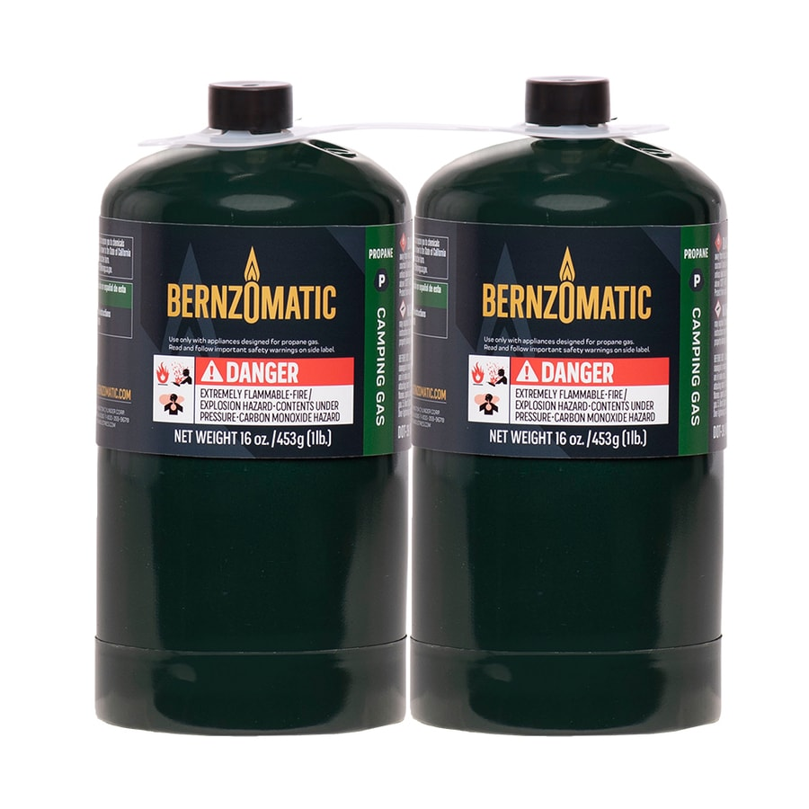BernzOmatic 1-lb 2-Pack Pre-Filled Propane Tank