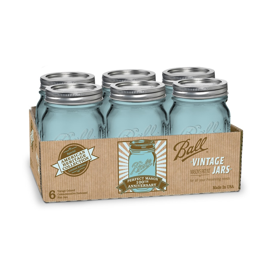 Ball 6-Pack 16-oz Glass Canning Jars with Lids
