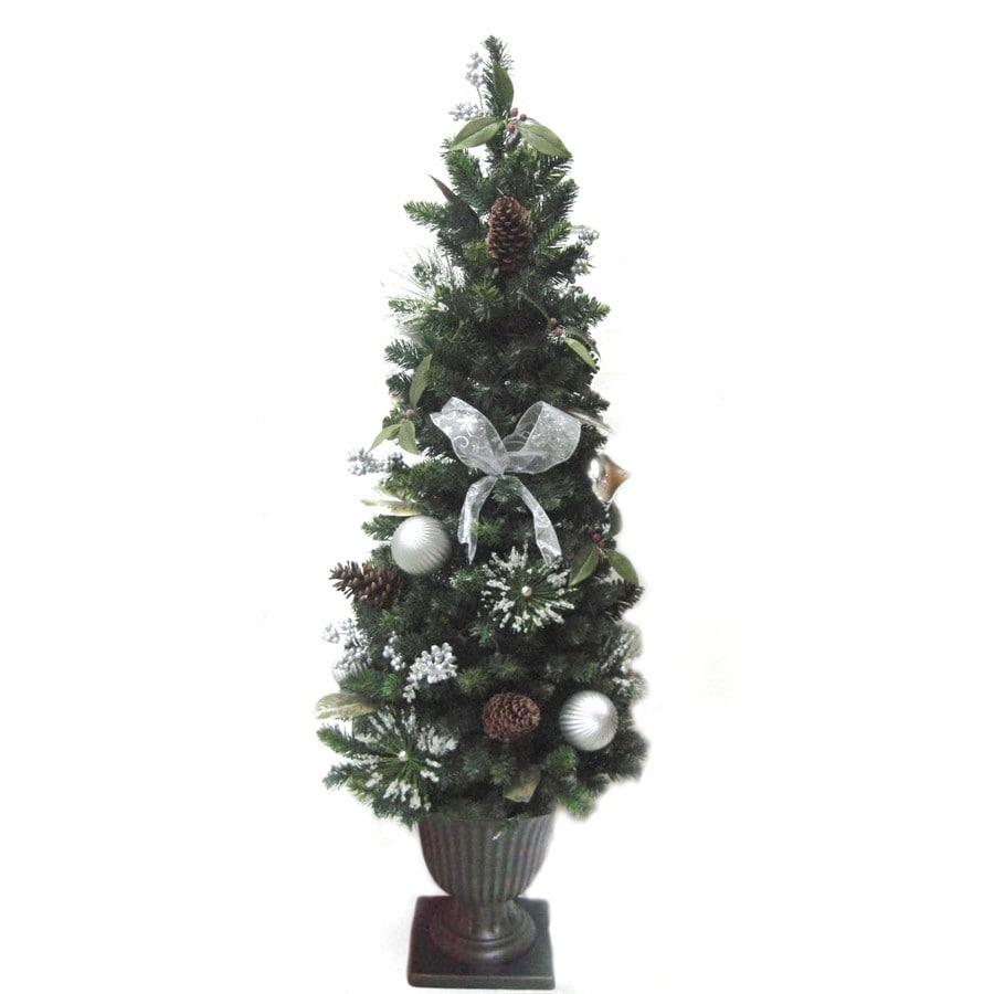 Shop allen roth ft pre lit pine artificial christmas