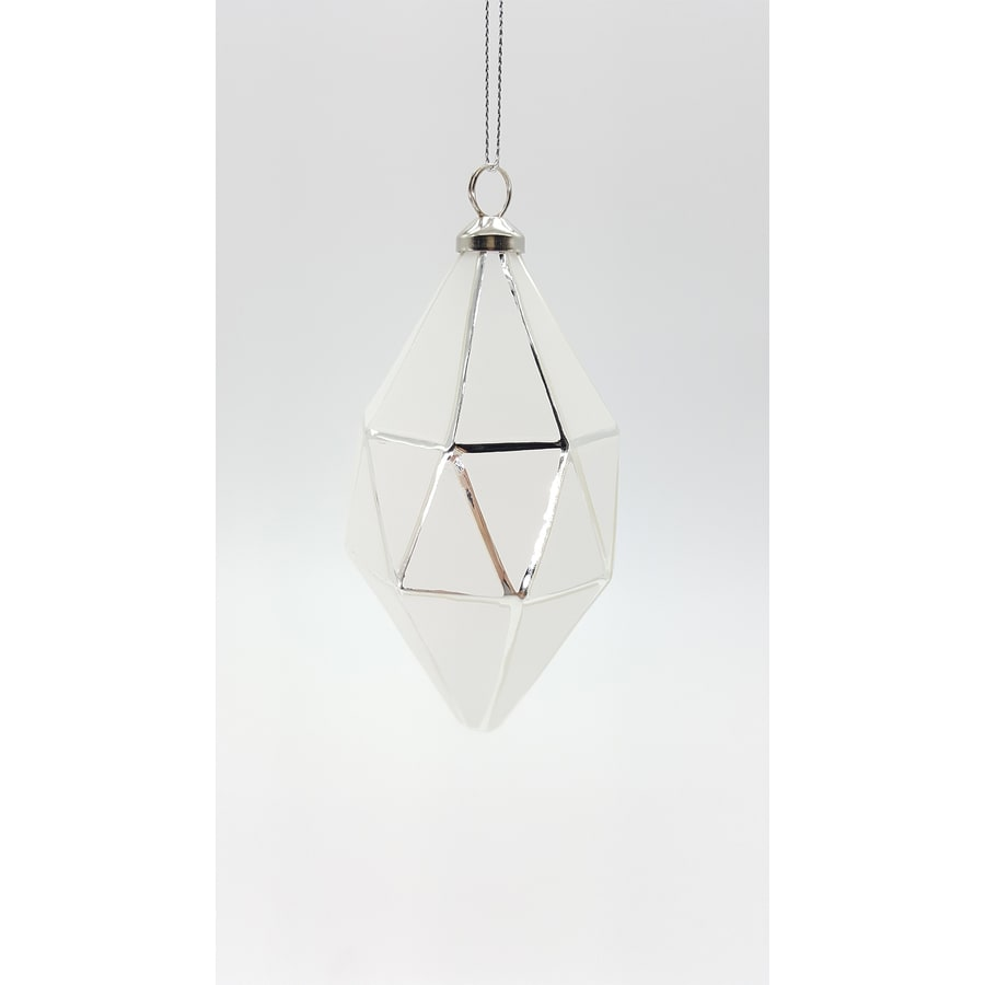 allen + roth White Finial Ornament