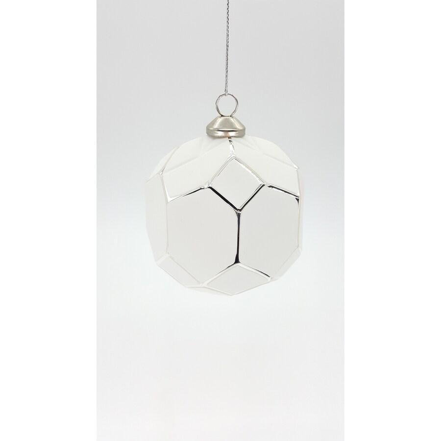 allen + roth White Ball Ornament