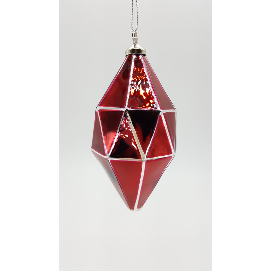 allen + roth Red Finial Ornament