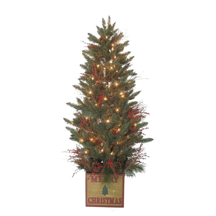 Shop Holiday Living 5-ft 392-Count Pre-Lit Aspen Fir Artificial ...