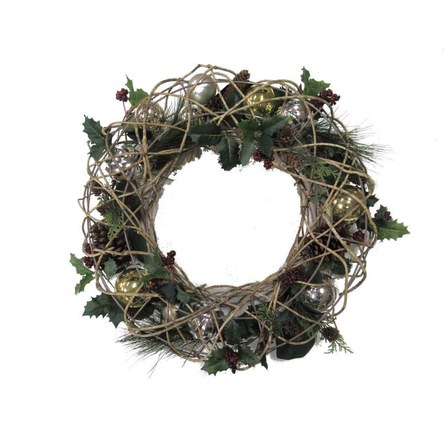 Holiday Living 24-in Indoor Ornament Artificial Christmas Wreath