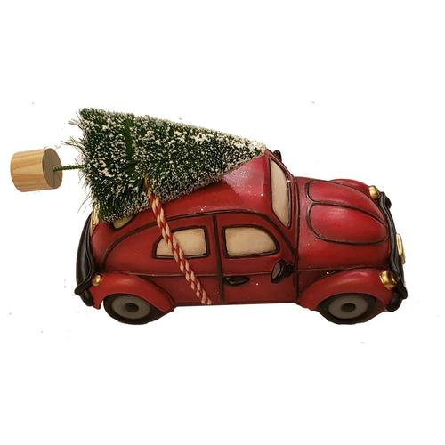 Car Christmas Tree.Allen Roth Ar Red Car With Tree At Lowes Com