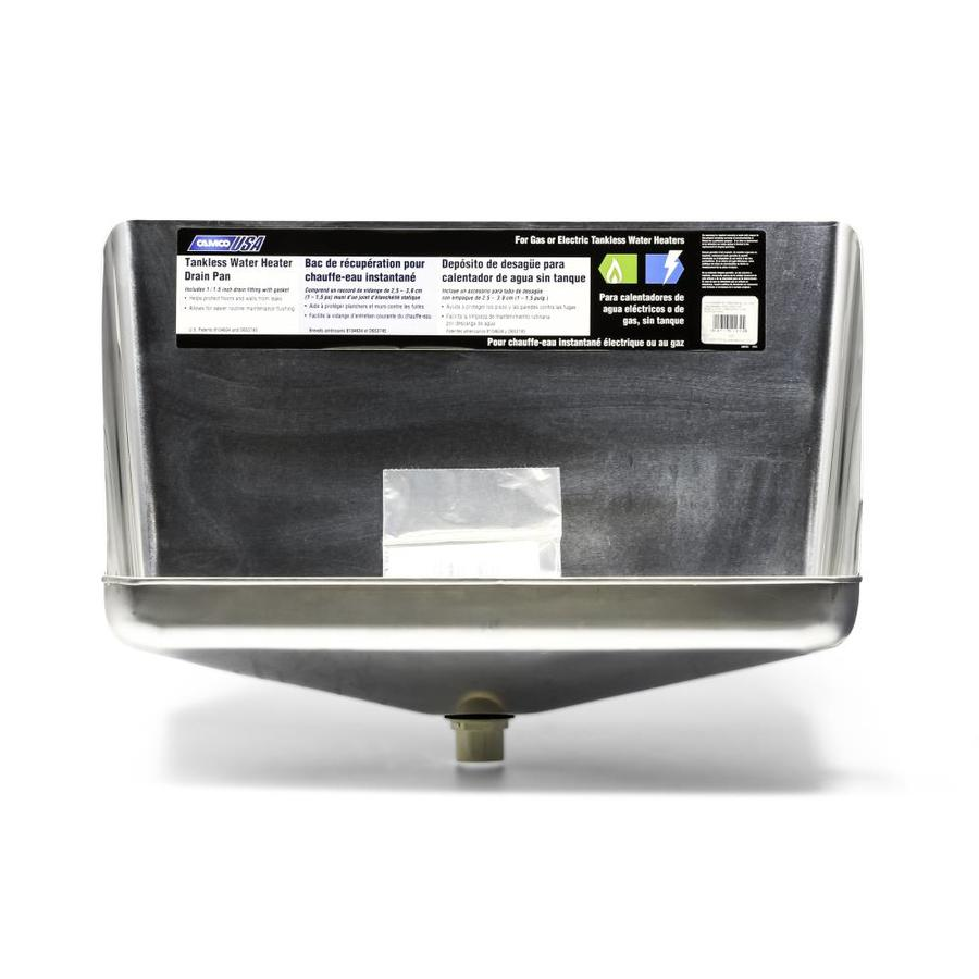 Camco Wh Drain Pan Tank Less Aluminum W Cpvc Fitting E F S In The Water Heater Pans Department At Lowes Com