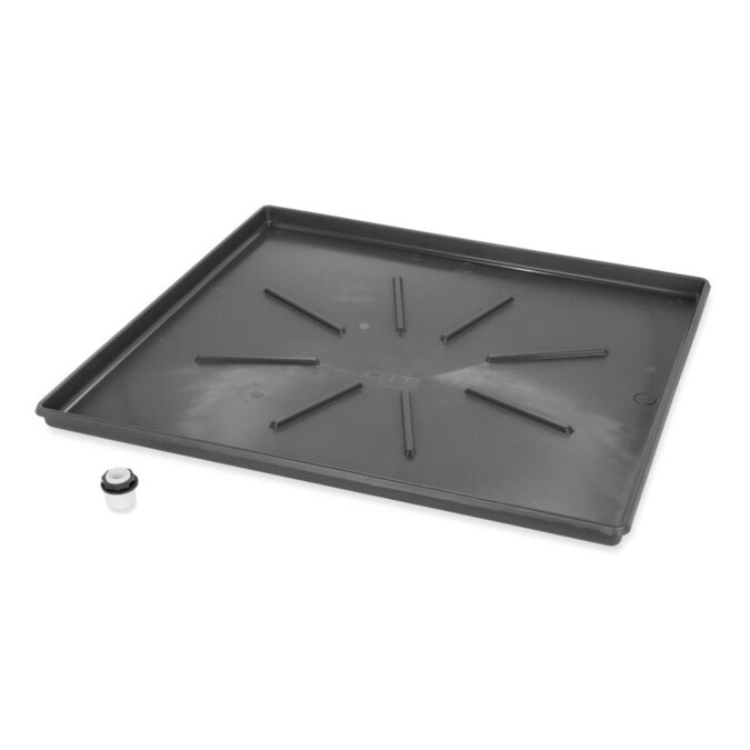 Camco Wm Drain Pan 30 5x34 5od Lowprofilew Pvcfittinggraphite In The Washer Parts Department At Lowes Com