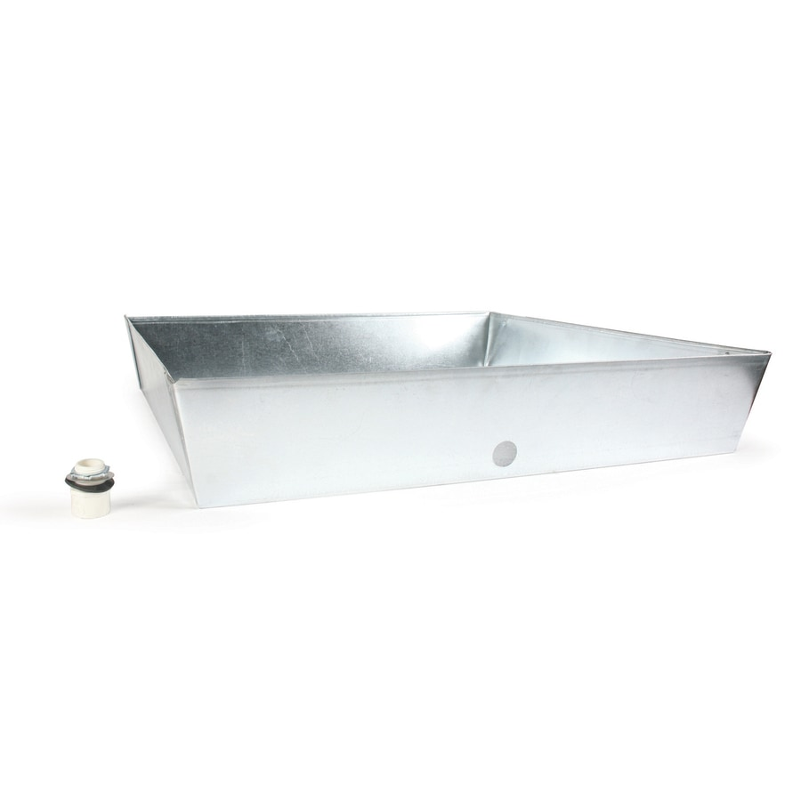Shop Camco Manufacturing 30 Quot Galvanized Square Drain Pan At Lowes Com