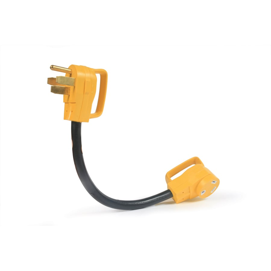 Camco Manufacturing 50-Amp 3-Wire Grounding Single to Single Yellow Adapter