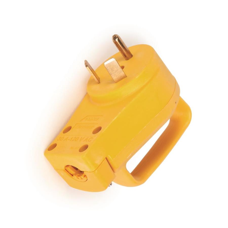 Camco 30 Amp 3 Wire Grounding Single To Single Yellow Basic Adapter At Lowes Com