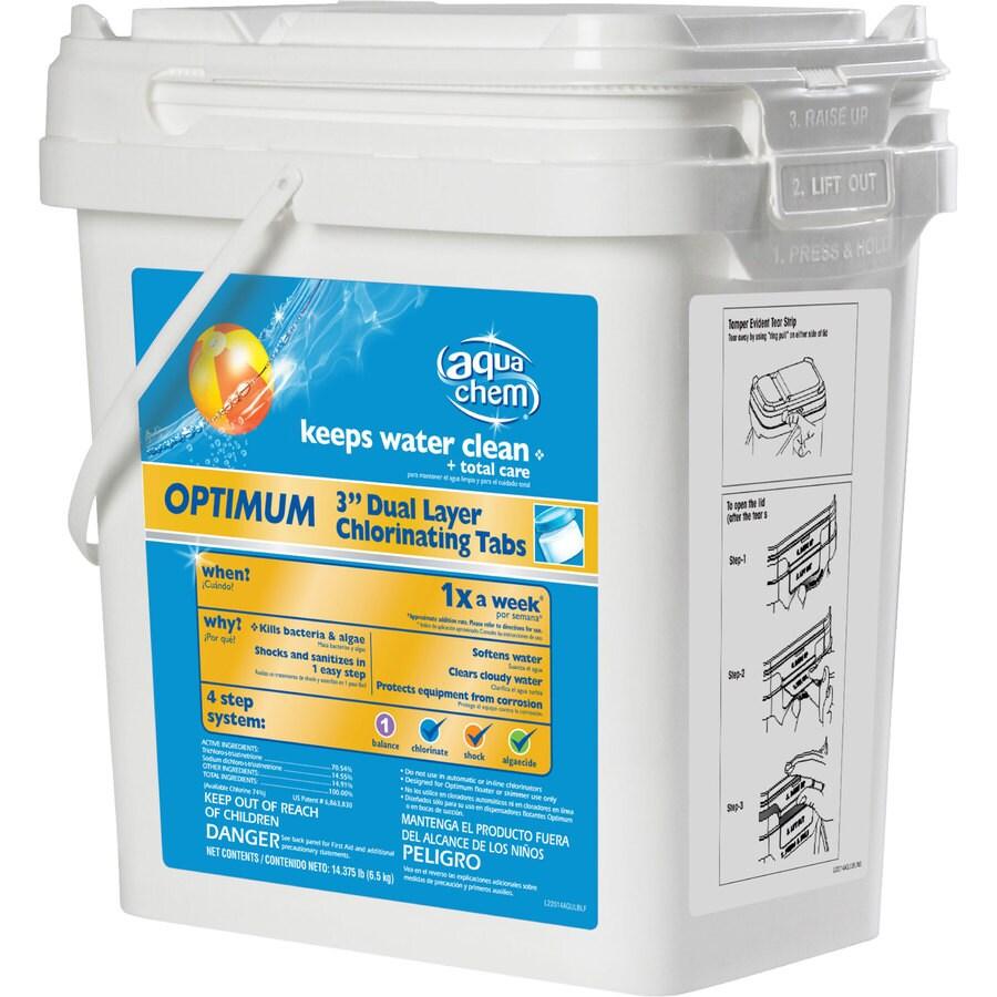"""Aqua Chem 14.375-lbs. Optimum 3"""" Dual Layer Pool Chlorinating Tabs"""
