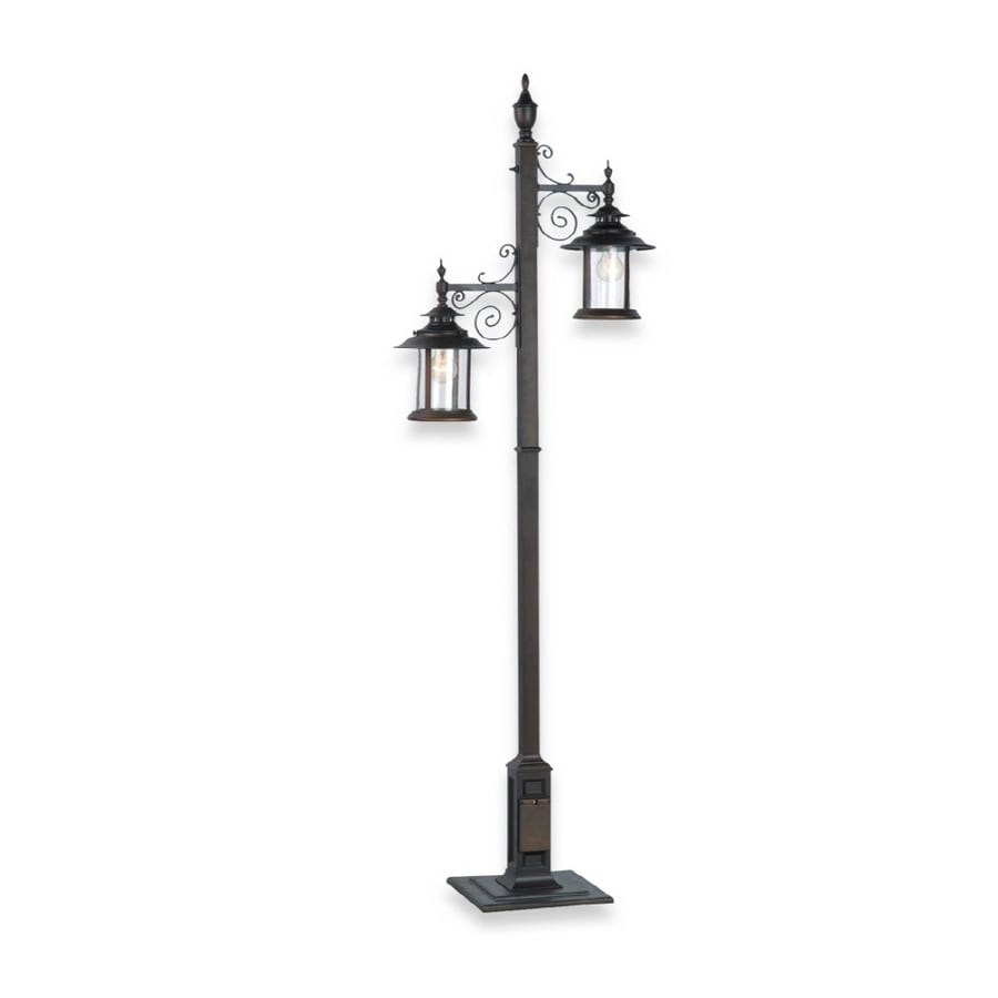 Royce Lighting 2 Light Oil Rubbed Bronze Outdoor Portable Post Lantern