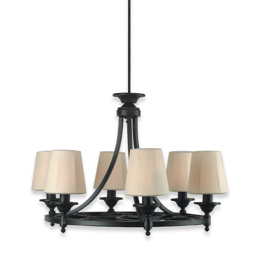Shop royce lighting 6 light plug in chandelier at lowes royce lighting 6 light plug in chandelier arubaitofo Choice Image