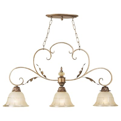 Royce Lighting 35 In W Kitchen Island Light With Shade At