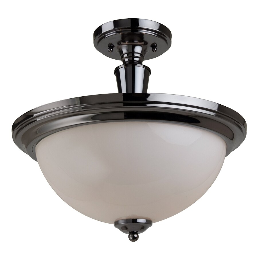 Portfolio 2 Light 14 1 4 Black Chrome Semi Flushmount