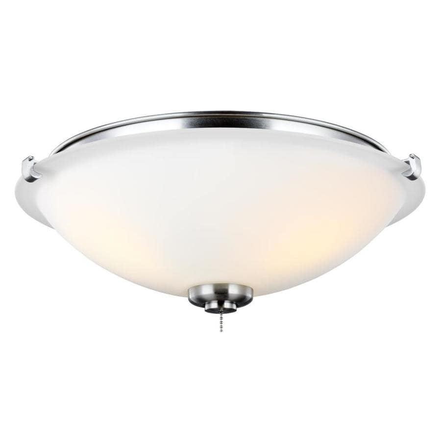 Monte Carlo Mc247 3 Light Brushed Steel Led Ceiling Fan Light Kit In The Ceiling Fan Light Kits Department At Lowes Com