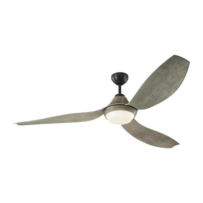 Monte Carlo Avvo 64 In Silver Led Indoor Outdoor Downrod Ceiling Fan With Remote 3 Blade In The Ceiling Fans Department At Lowes Com