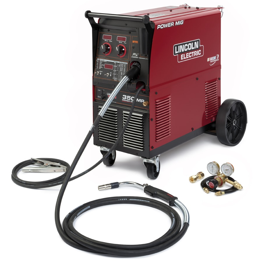 lincoln electric 240-volt/350-amp mig flux-cored wire feed welder