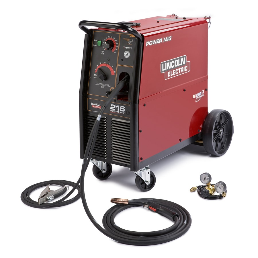 shop lincoln electric 240 volt mig flux cored wire feed welder at rh lowes com 230 Volt Compressor Wiring 220 Volt Single Phase Wiring
