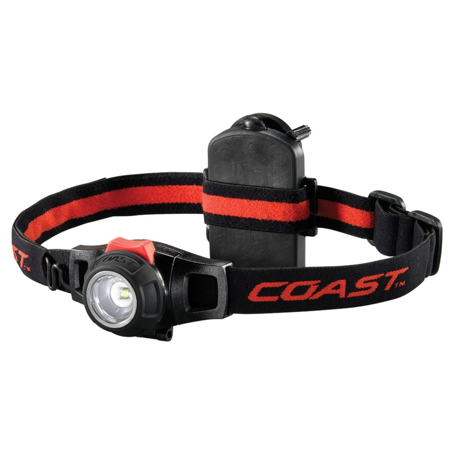Coast 196-Lumen LED Headlamp Battery Flashlight (Battery Included)